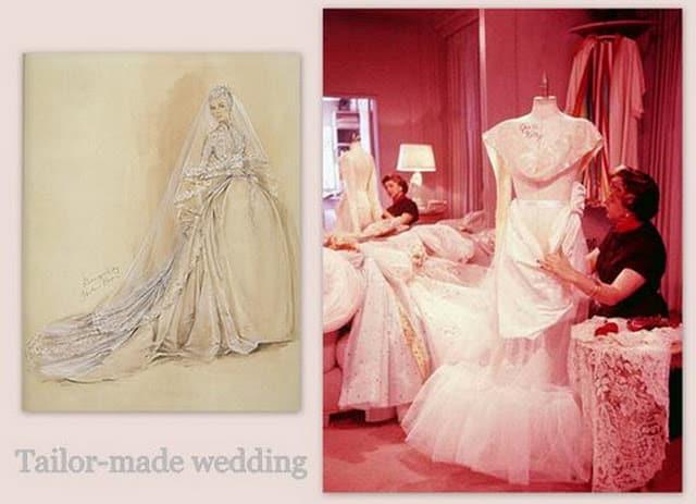 Helen Rose crea abito da sposa di Grace Kelly