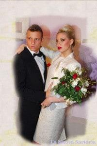 La sposa in tailleur.