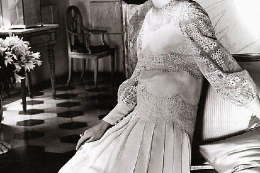 Abito da sposa di Valentino per Jackie Kennedy-Onassis.