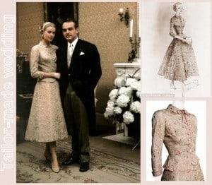 La sposa in tailleur. Ispirazione Grace Kelly.