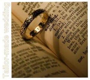 Letture per il rito religioso: simbologia delle fedi.