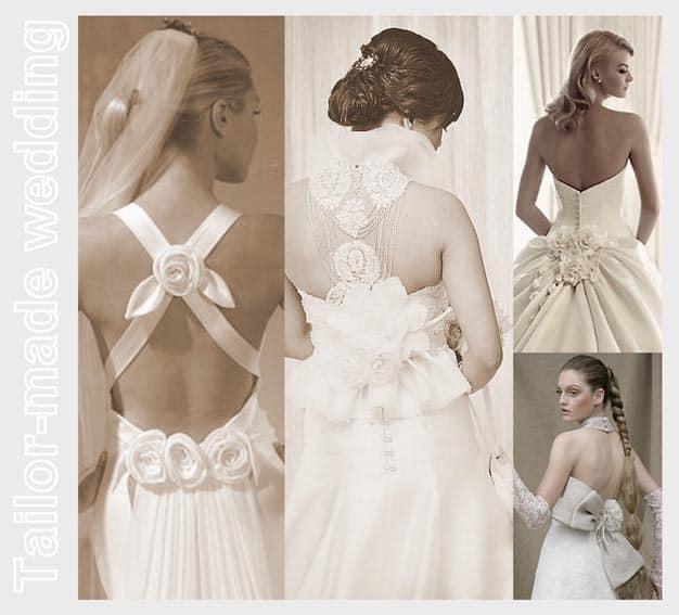 L importanza del dettaglio  l abito da sposa visto da dietro. f5b506172f5