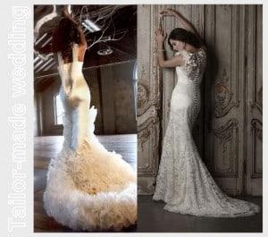 L'importanza del dettaglio: L'abito da sposa visto da dietro.