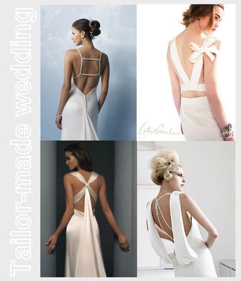 Preferenza L'importanza del dettaglio: l'abito da sposa visto da dietro. XG44