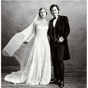 Lo stupendo abito di Lauren Bush firmato Ralf Lauren.