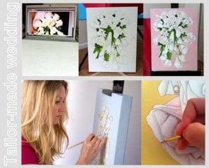 Il bouquet in un quadro.