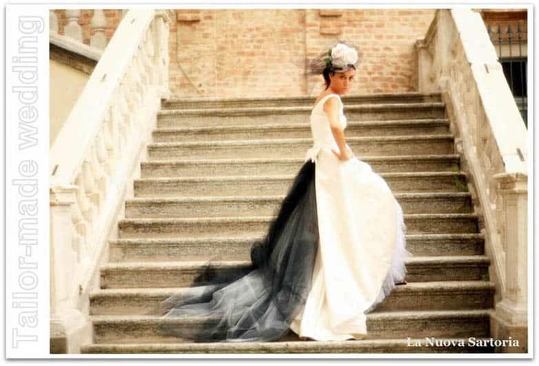 abito da sposa bianco e nero  La Nuova Sartoria. Tailor-made