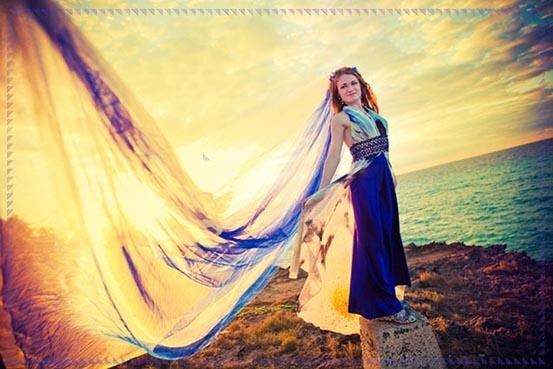velo da sposa colorato