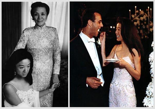 Vera Wang al suo matrimonio