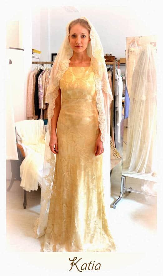 abito da sposa dorato