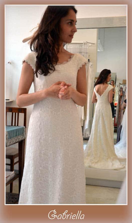 abito da sposa in macramé