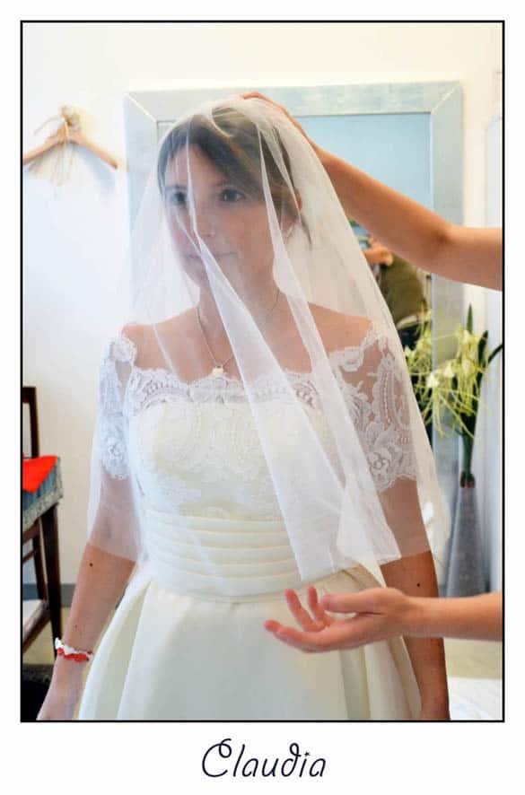 abito da sposa con pizzo