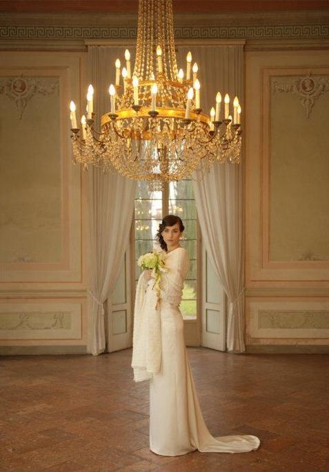 abito da sposa invernale con la stola