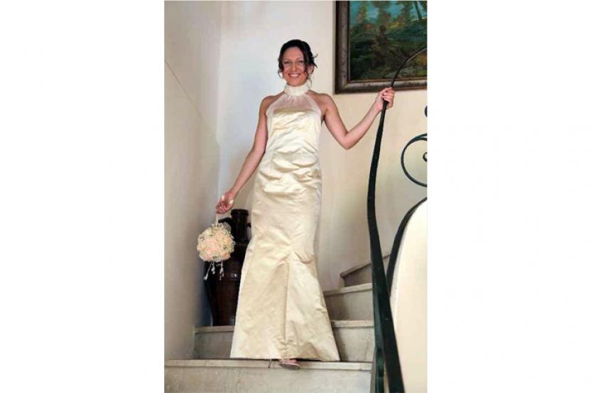 Alessandra in abito da sposa mod. Liz pesonalizzato