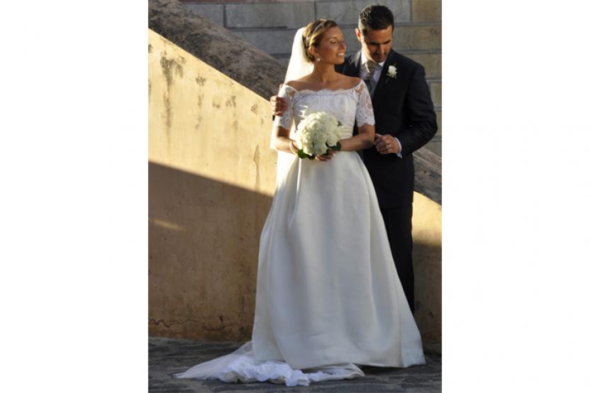 Claudia in abito da sposa mod.Grace personalizzato