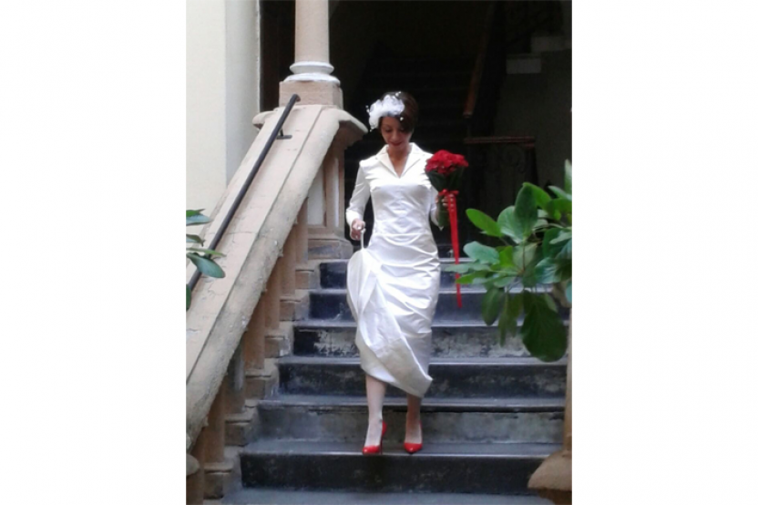 Damiana in abito da sposa esclusivo