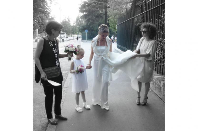 Patrizia, sposa in pantalone