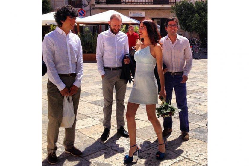Silvia in mini abito da cerimonia-esclusivo
