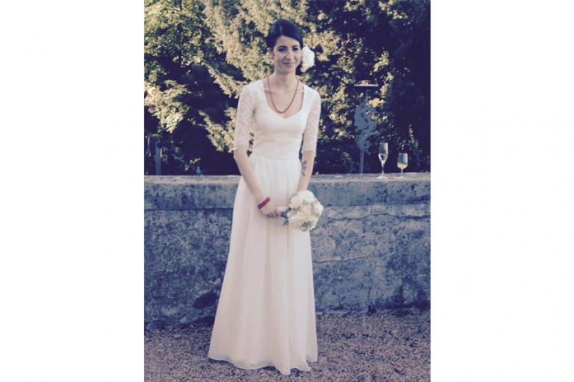 Valentina in abito da sposa esclusivo