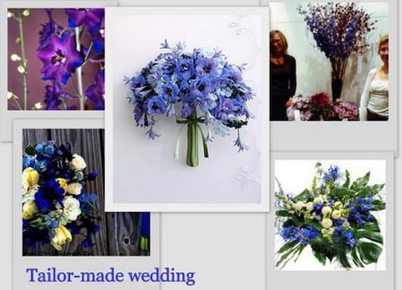 fiore blu come delphinium
