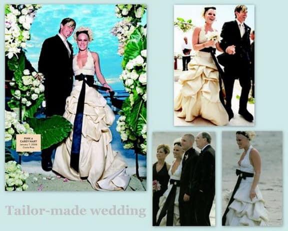abito da sposa di Pink