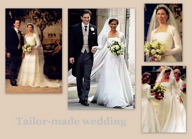 abito da sposa di Sarah Armstrong-Jones
