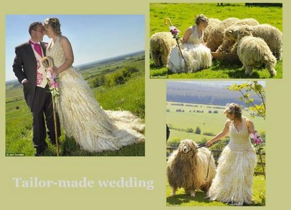abito da sposa di lana