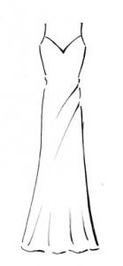 modello di abiti da sposa a sottoveste