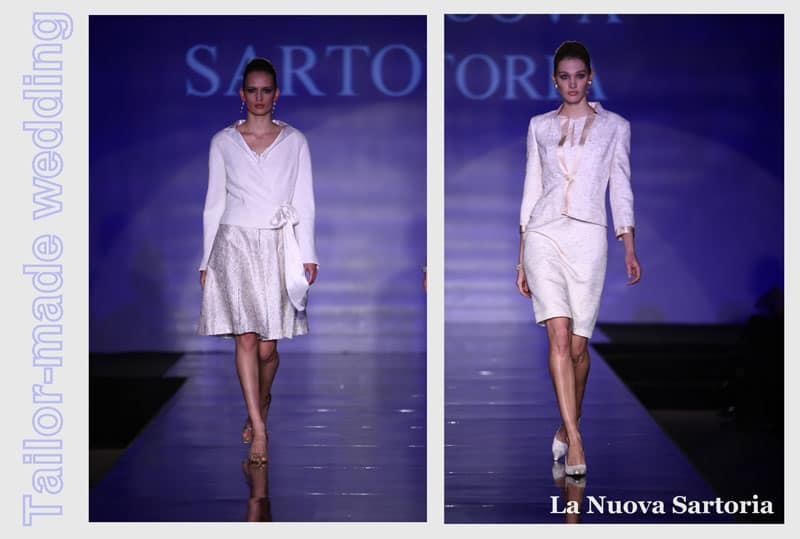 sposa in tailleur