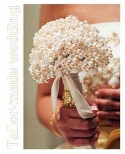 bouquet alternativo con le perline