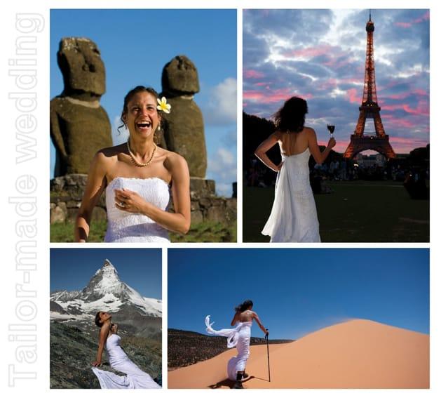 sposa fa giro del mondo