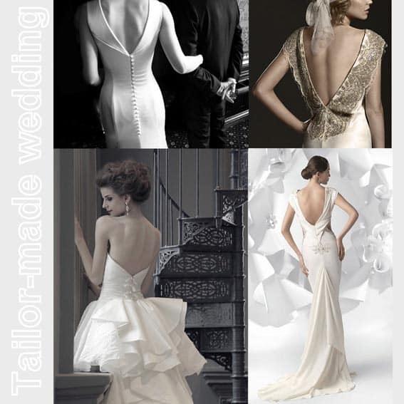 abito da sposa: scolli dietro