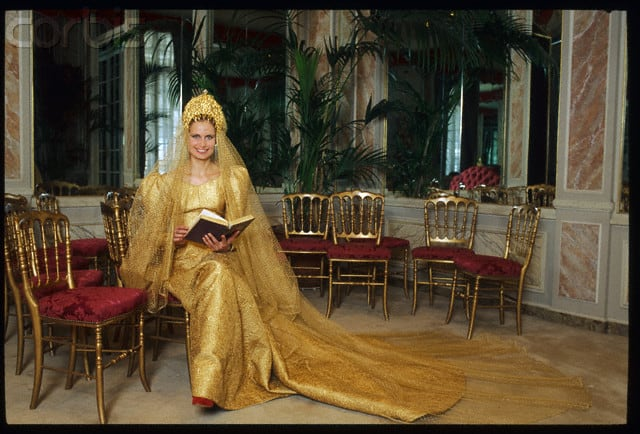 Russian Cellist Olga Rostropovich at Yves Saint Laurent for Her Wedding Dress