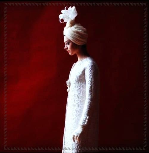 Abito da sposa di Yves Saint Laurent. 1962.