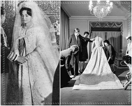 Farah Diba wedding dress