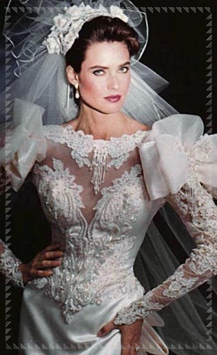 moderno ed elegante nella moda cerca l'originale nuovo arriva Abiti da sposa anni '80