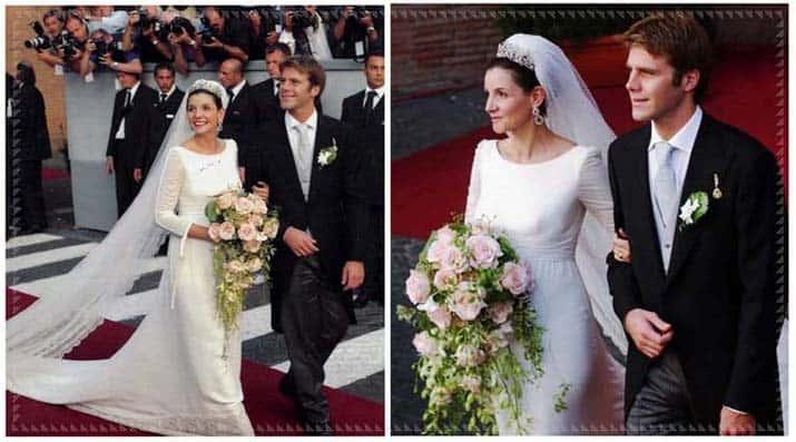 Clotilde Courau in abito da sposa di Valentino, 2003