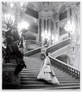 Vintage Dior, photographed by Clifford Collin, in 1948, at Opéra Garnier