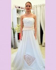 abito da sposa in organza