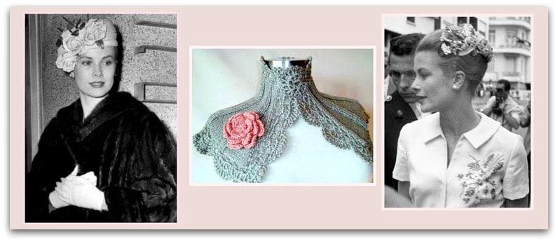 Grace Kelly. Accessori floreali
