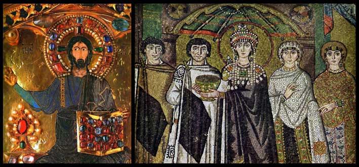 Pala d'Ora a San Marco e mosaici di Ravenna