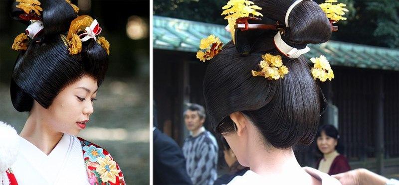 acconciatura tradizionale della sposa giapponese