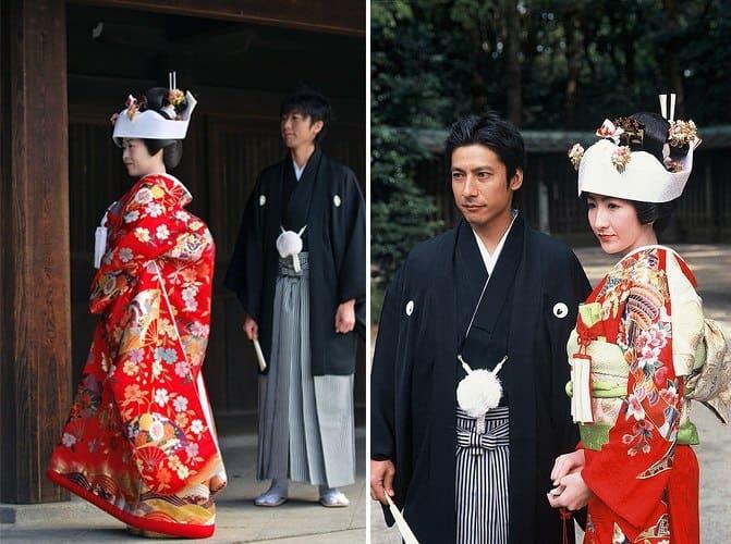 sposa giapponese in kimono tradizionale