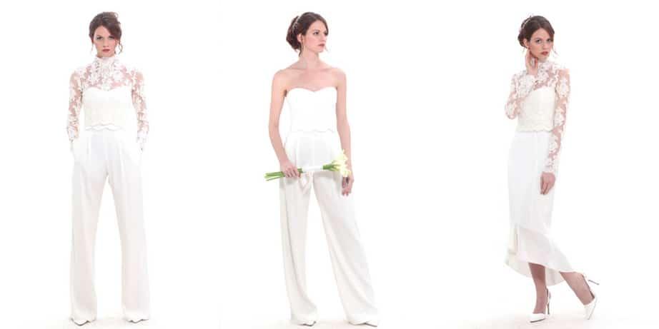 abiti da sposa componibili con pantalone