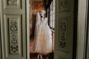 abito per il matrimonio in villa
