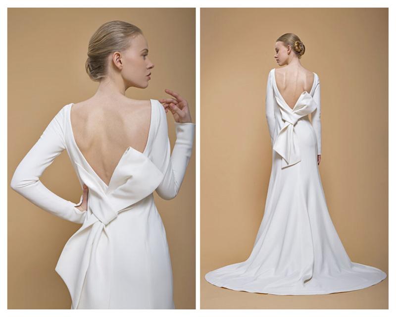 abito da sposa con fiocco talea couture