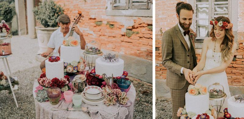 Matrimonio. Taglio della torta