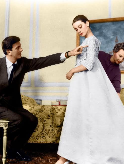 Audrey Hepburn con Hubert de Givenchy