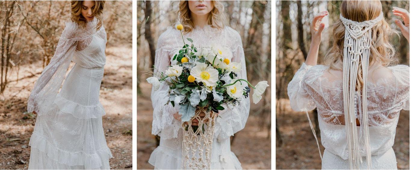 abito da sposa look stile hippy
