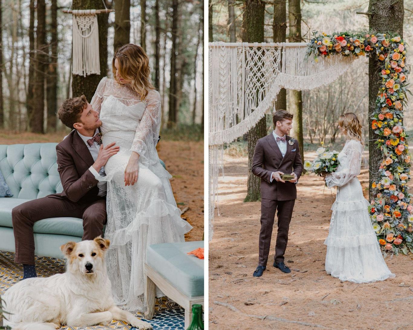cerimonia laica matrimonio boho